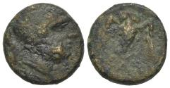 Ancient Coins - ITALY. Northern Lucania, Velia, 4th-2nd centuries BC. AE 14mm. R/ OWL