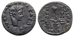 Ancient Coins - Drusus (Caesar, 19-23). Spain, Italica. Æ Semis