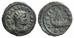 Ancient Coins - ALLECTUS. 293-296 AD. AE Quinarius. Camulodunum mint. R / GALLEY
