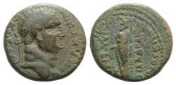 Ancient Coins - Vespasian (69-79). Lydia, Philadelphia. Æ 22mm.  R/ Zeus Lydios