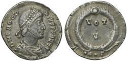 Ancient Coins - Procopius (Usurper, 365-366) AR Siliqua, Constantinople.  R/ VOT/V  RARE