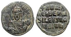 Ancient Coins - Constantine VII and Romanus I (913-959). Æ 40 Nummi (27mm, 8.81g, 6h). Constantinople, 931-944.