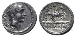 Ancient Coins - ROME REPUBLIC L. Marcius Philippus, Rome, 57 BC. AR Denarius. R/ Equestrian statue