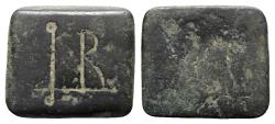 Ancient Coins - Byzantine Æ Half Ounce Square Commercial Weight, 5th-7th centuries AD