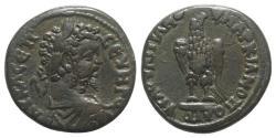Ancient Coins - Septimius Severus (193-211). Moesia Inferior, Marcianopolis. Æ 27mm. Flavius Ulpianus, consular legate, 210-1. R/ EAGLE