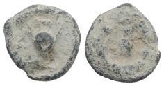 Ancient Coins - Roman PB Tessera, c. 1st century BC - 1st century AD. Pellet in wreath