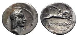 Ancient Coins - C. Piso L.f. Frugi. 61 BC, Rome, AR Denarius