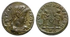 Ancient Coins - Constans (337-350). Æ - Treveri - R/ Soldiers