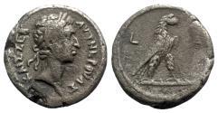 Ancient Coins - Nerva (96-98). Egypt, Alexandria. BI Tetradrachm - year 1 - R/ Eagle