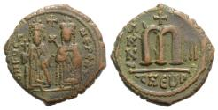 Ancient Coins - Phocas (602-610). Æ Follis - 40 Nummi. Theoupolis (Antioch), year 3 (604/5).