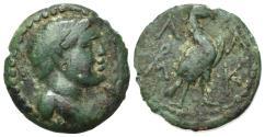 Ancient Coins - Lakonia, Lakedaimon (Sparta), c. 48-35 BC. Æ Tetrachalkon. R/ Eagle