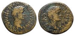 Ancient Coins - Augustus with Tiberius as Caesar (27 BC-AD 14). Spain, Tarraco. Æ As