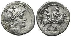 Ancient Coins - ROME REPUBLIC Q. Marcius Libo, Rome, 148 BC. AR Denarius. R/ DIOSCURI