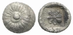 Ancient Coins - Ionia, Erythrai, c. 480-450 BC. AR Hemiobol