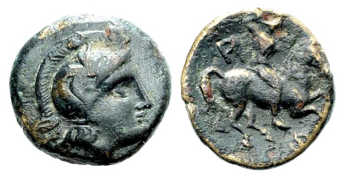 Ancient Coins - Thessaly, Pharsalos (Pharsalus), early 4th century BC. Æ Chalkous
