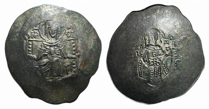 Ancient Coins - Isaac II (1185-1195). BI Aspron Trachy