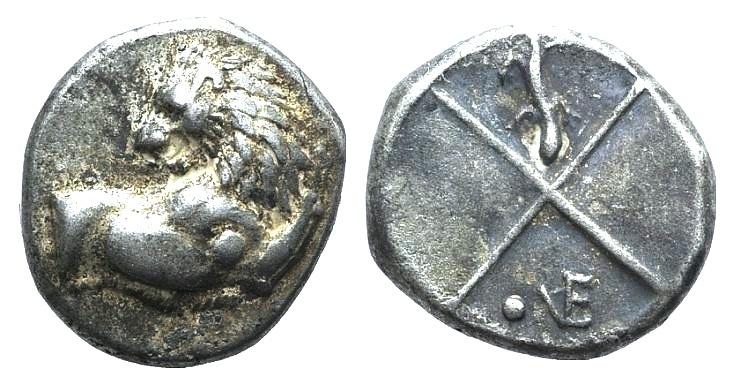 Ancient Coins - Thrace, Chersonesos, c. 386-338 BC. AR Hemidrachm