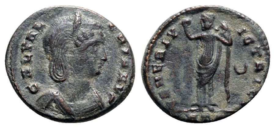 Ancient Coins - Galeria Valeria (293-311). Æ Follis - Heraclea - R/ Venus