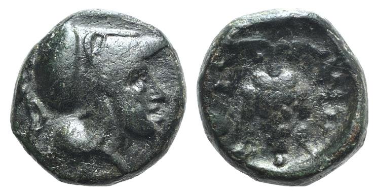 Ancient Coins - Lokris, Lokris Opuntii, c. 300-275 BC.  AE 11mm