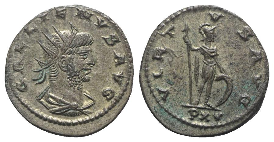 Ancient Coins - Gallienus (253-268). Antoninianus. R/ MARS EXTREMELY FINE