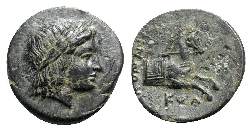 Ancient Coins - Ionia, Kolophon, c. 360-330 BC. Æ - Konnis, magistrate