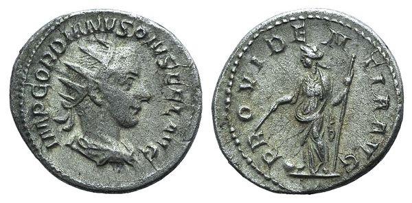 Ancient Coins - Gordian III (238-244). AR Antoninianus. Rome, 240-244. R/ Providentia