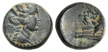 Ancient Coins - Phoenicia, Arados, c. 176/5 BC - AD 115/6. Æ 19mm. Dated Year 130 (130/29 BC)