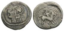 Ancient Coins - EASTERN EUROPE, Imitations of Roman Republican. Geto-Dacians. After 74 BC. AR Denarius  apparently unpublished.
