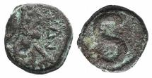 Ancient Coins - Justinian I. 527-565. Æ 6 Nummi. Alexandria mint. Struck 527-565.