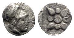 Ancient Coins - Asia Minor, Uncertain mint, 5th century BC. AR Hemiobol - Athena / Star