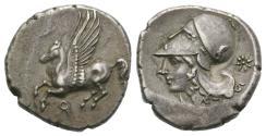 Ancient Coins - CORINTHIA, Corinth. Circa 375-300 BC. AR Stater