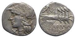 Ancient Coins - Roman Republic, M. Baebius Q.f. Tampilus, Rome, 137 BC. AR Denarius