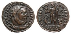 Ancient Coins - Licinius I (308-324). Æ Follis - Alexandria - R/ Jupiter