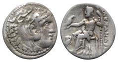 Ancient Coins - Kings of Macedon, Antigonos I Monophthalmos (Strategos of Asia, 320-306/5 BC, or king, 306/5-301 BC). AR Drachm. In the name and types of Alexander III.