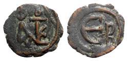 Ancient Coins - Justin II (565-578). Æ 5 Nummi - Constantinople