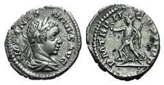 Ancient Coins - ELAGABALUS. 218-222 AD. AR Denarius. Struck 219 AD. R/ PAX