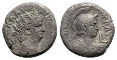 Ancient Coins - Nero (54-68). Egypt, Alexandria. BI Tetradrachm - R/ Bust of Roma