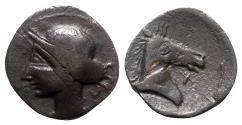 Ancient Coins - Spain, Punic Iberia, c. 237-209 BC. Æ Unit