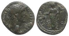 Ancient Coins - Antoninus Pius (138-161). Æ Dupondius. Rome, 154-5. R/ Libertas