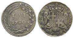 World Coins - Malta, Emmanuel de Rohan (1775-1797). AR 6 Tarì 1780. Crowned shield above headless eagle. R/ T VI / 1780