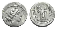 Ancient Coins - Moneyer issues of Imperatorial Rome. Man. Acilius Glabrio. 49 BC. AR Denarius