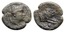 Ancient Coins - Northern Lucania, Paestum, c. 218-201 BC. Æ Sextans