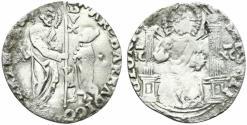 World Coins - Italy, Venezia, Marco Barbarigo (1485-1486). AR Marcello – Mezzo Lira RARE