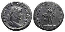 Ancient Coins - Diocletian (284-305). Æ Follis - Rome - R/ Genius