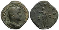 Ancient Coins - Maximinus I. AD 235-238. AE Sestertius. Struck 236-238 AD. R/ PAX