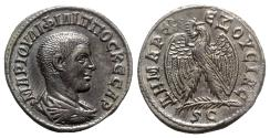 Ancient Coins - Philip II (Caesar, 244-247). Seleucis and Pieria, Antioch. AR Tetradrachm