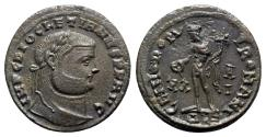Ancient Coins - Diocletian (284-305). Æ Follis - Alexandria - R/ Genius
