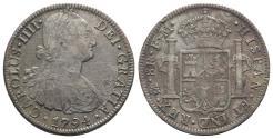 World Coins - Mexico, Carlos IV (1788-1808). AR 8 Reales 1794 FM, Mexico City