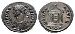 Ancient Coins - Probus (276-282). Radiate - Rome - R/ Roma seated