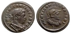 Ancient Coins - Constantine I (307/310-337). Æ Follis - Treveri - R/ Bust of Mars